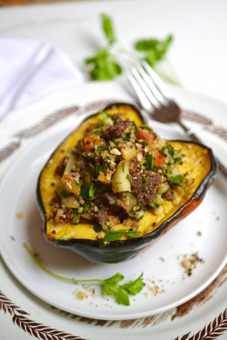 Stuffed Acorn Squash with CAIRO nut & spice mix