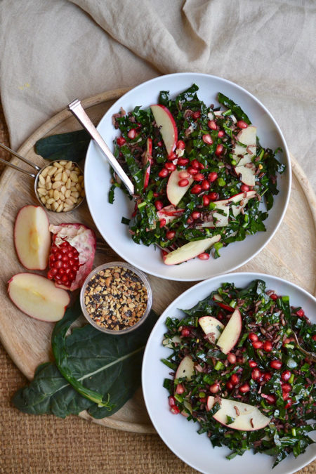 Pomegranate, Pine Nut and Apple Salad - Glory Kitchen