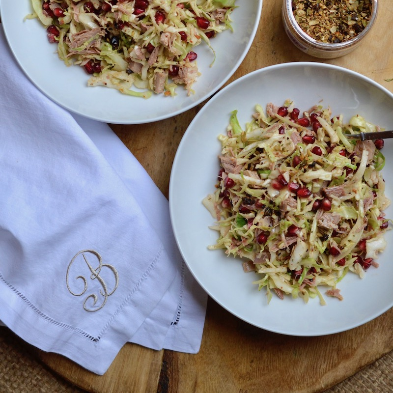 Chicken Slaw with Pomegranate - Glory Kitchen