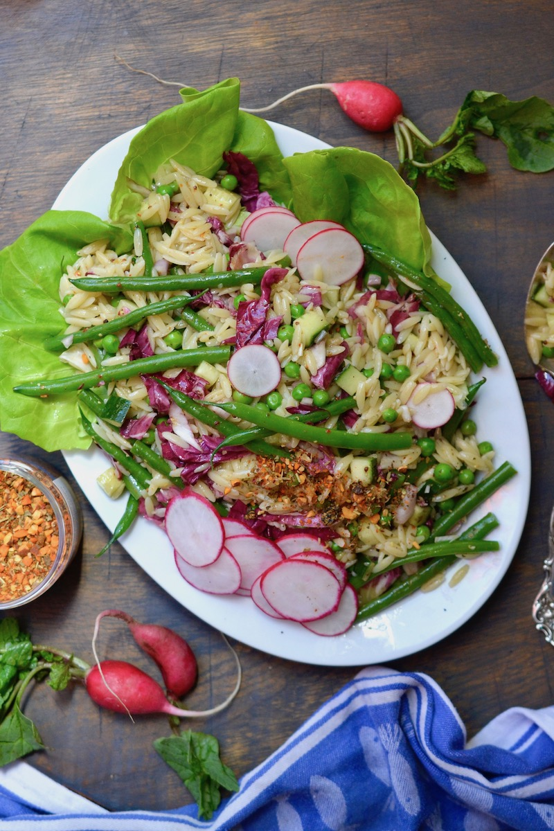 Spring Orzo Salad - Glory Kitchen